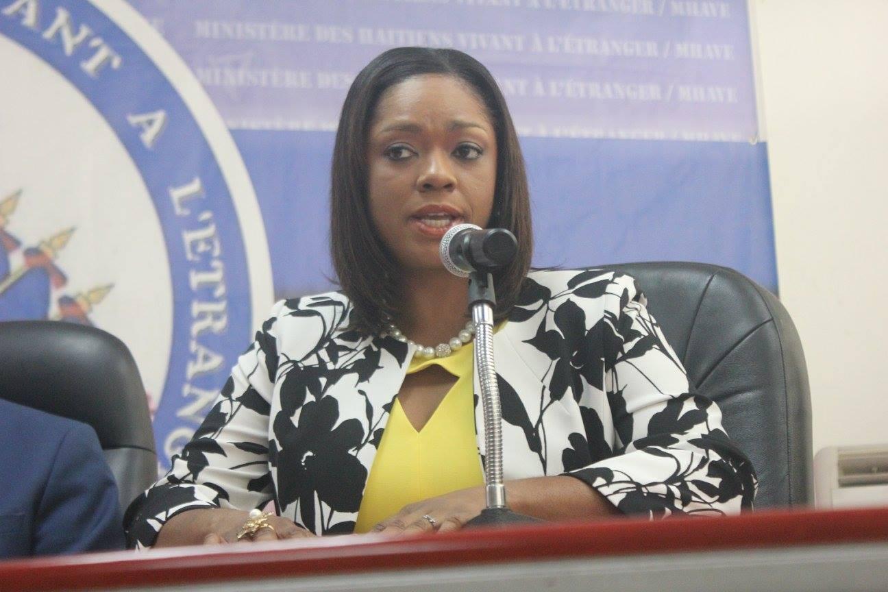 LaMinistre des Affaires Sociales et du Travail Stéphanie Auguste. Photo : MHAVE