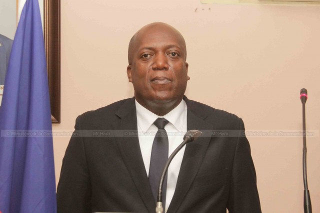 Jean Roody ALY, le nouveau ministre de la Justice et de la Sécurité Publique (MJSP). (crédit photo : @MCHaiti)