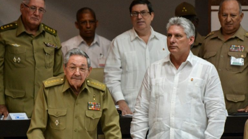 President Raul Castro (left) and Vice President Miguel Diaz-Canel