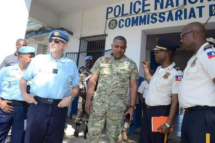 Michel-Ange Gédéon, directeur général de la Police Nationale d''Haïti, lors de son passage à Port-de-Paix le vendredi 20 avril 2018.