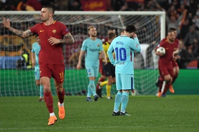 Par un caprice du destin, le FC Barcelone a subi mardi contre Rome la même gifle qu'il avait infligée la saison dernière au Paris SG: battu 4-0 en huitièmes aller, les Catalans avaient triomphé 6-1 au retour, avant de chuter en quart contre la Juventus (3-0, 0-0).