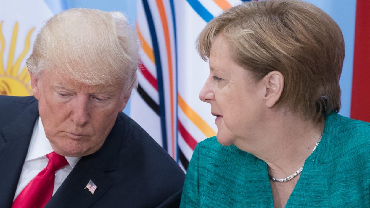 L'autre objectif de Mme Merkel, comme pour le président français, est de convaincre le président américain que, faute d'une solution alternative, l'accord sur le nucléaire iranien reste préservé, faute de quoi Téhéran pourra reprendre sa quête de l'arme atomique. (crédit photo : AFP)
