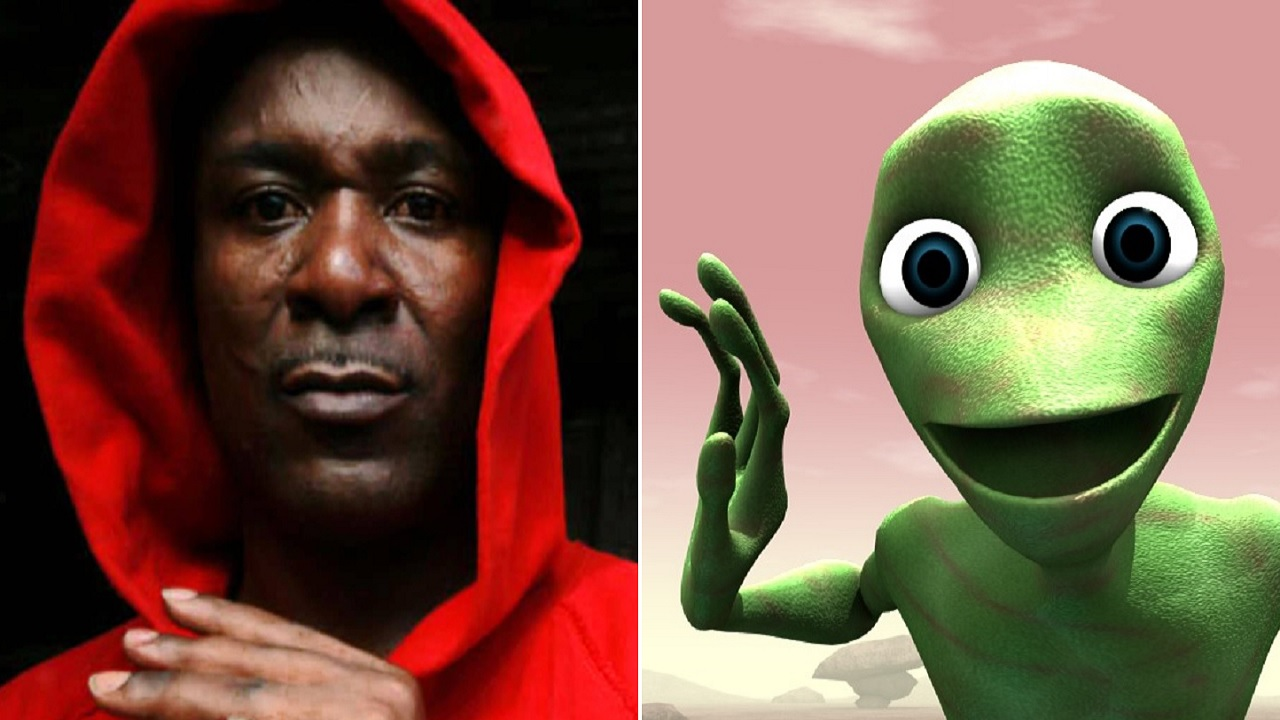 The remix, 'Dame Tu Cosita', features a video with a green alien dancing that is all the rage on social media.