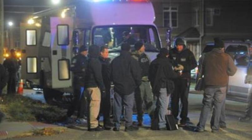 File photo of authorities at a crime scene