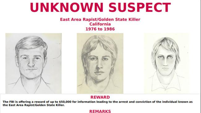 """Le """"Golden State Killer"""", est suspecté d'avoir commis 12 meurtres et 45 viols en Californie entre 1976 et 1986, selon le FBI. (crédit photo : AFP)"""