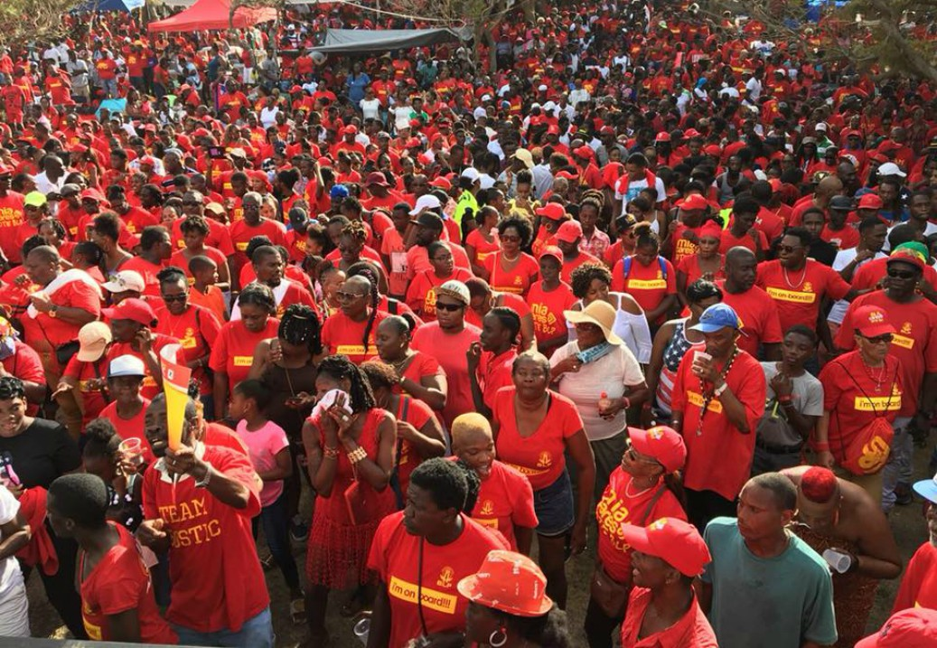 Section of the crowd at the BLP picnic. (Photo: Barbados Labour Party).