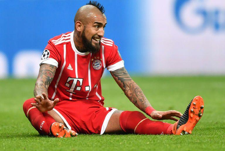 Le milieu du Bayern Munich Arturo Vidal est très incertain pour la réception du Real Madrid en demi-finale de C1 le 25 avril.  (crédit photo : AFP)