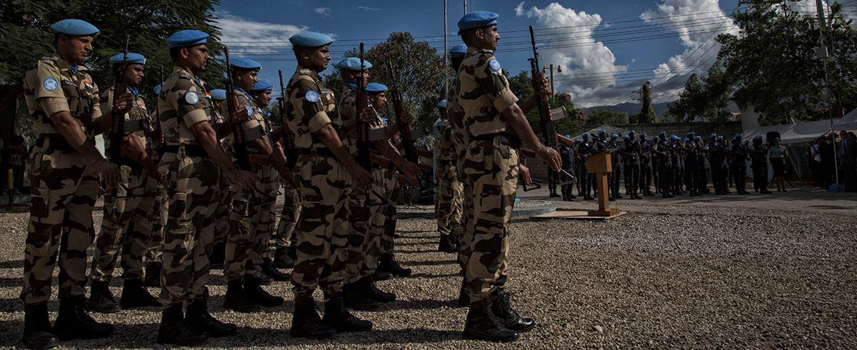Des soldats de l'ONU