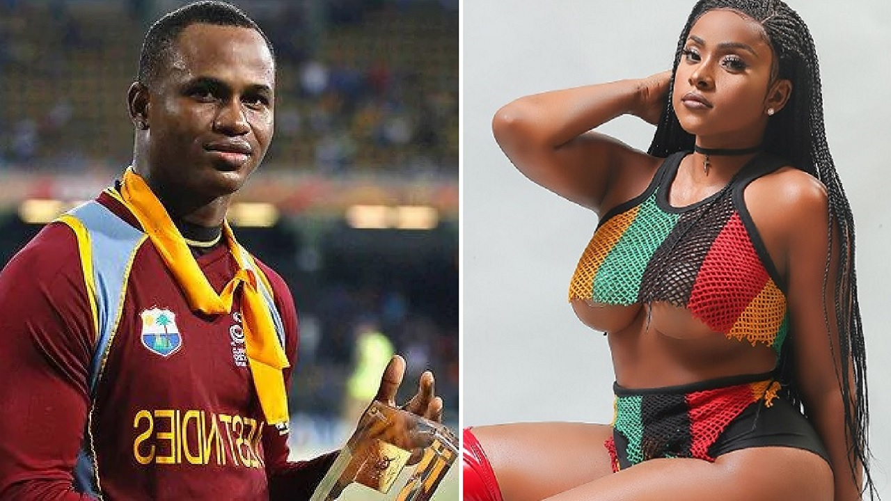 Marlon Samuels and Yanique 'Curvy Diva' Barrett