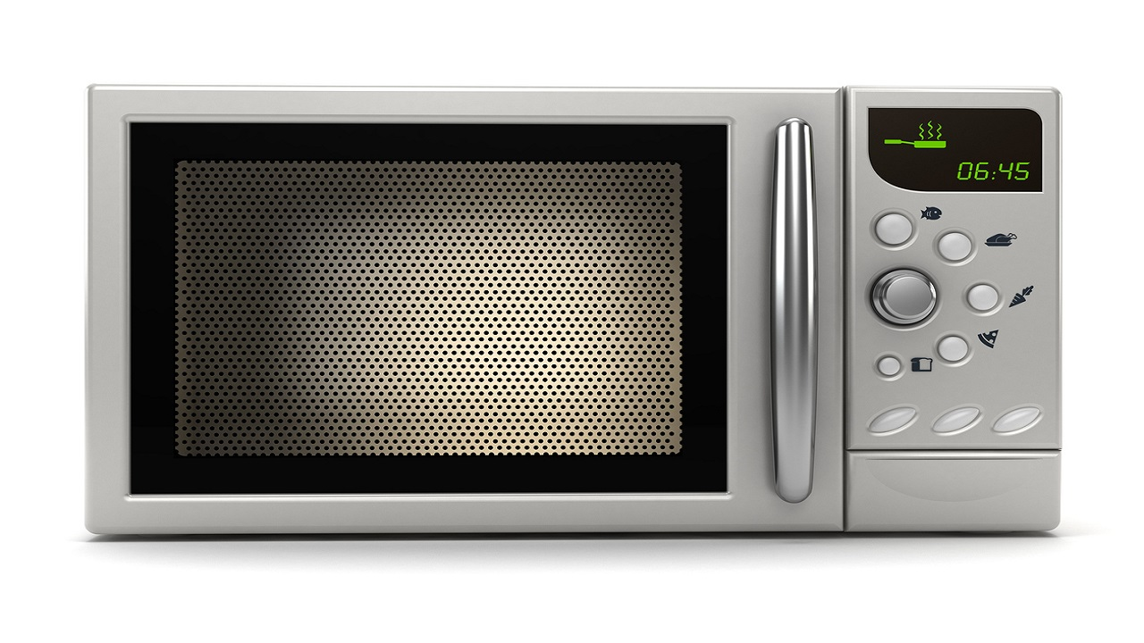 iStock photo of a microwave.