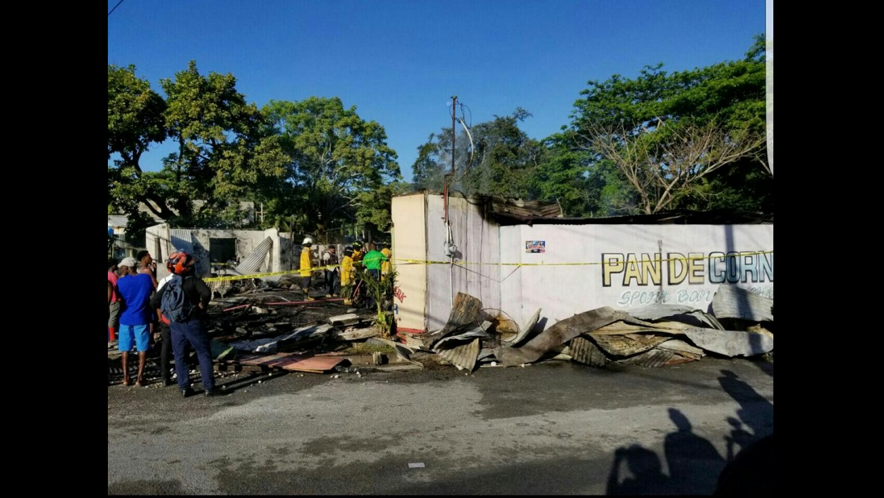 The remains of the nightclub, which fire destroyed Thursday morning.