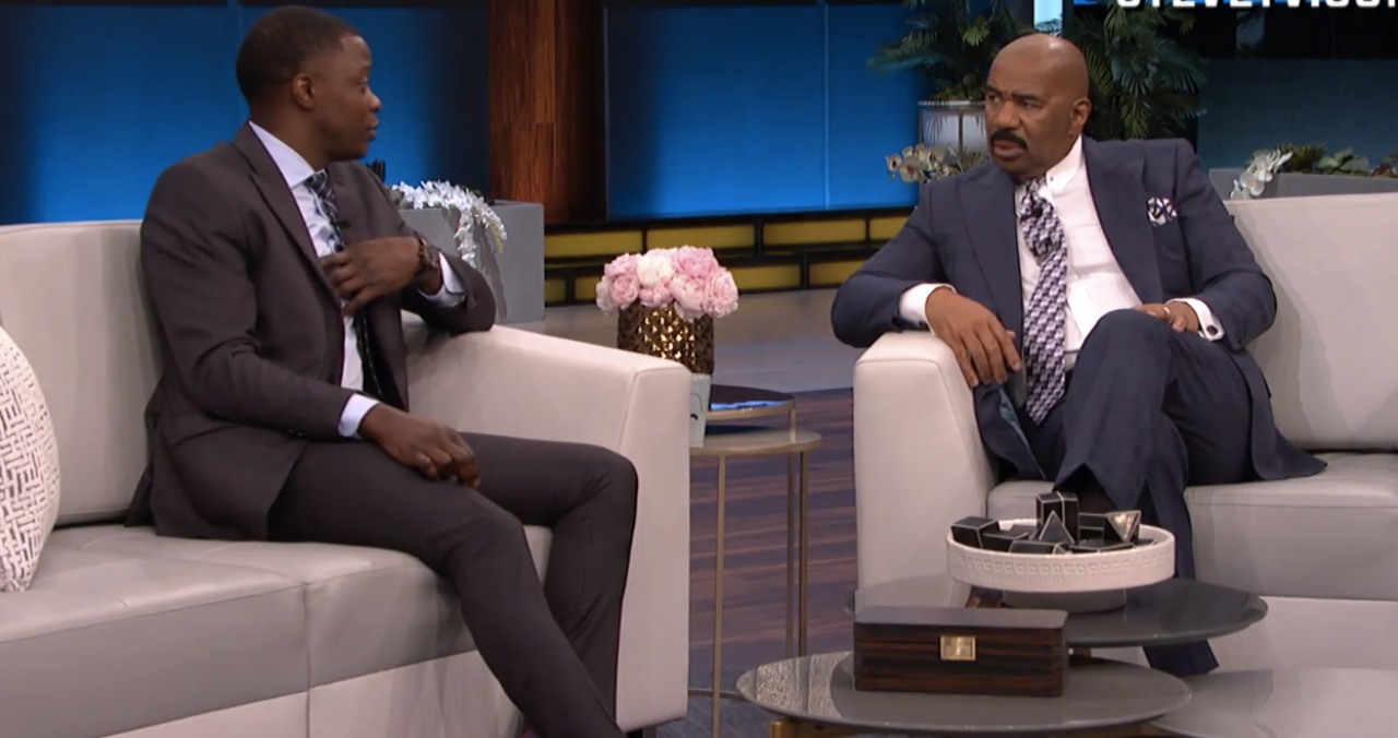James Shaw Jr. and Steve Harvey.