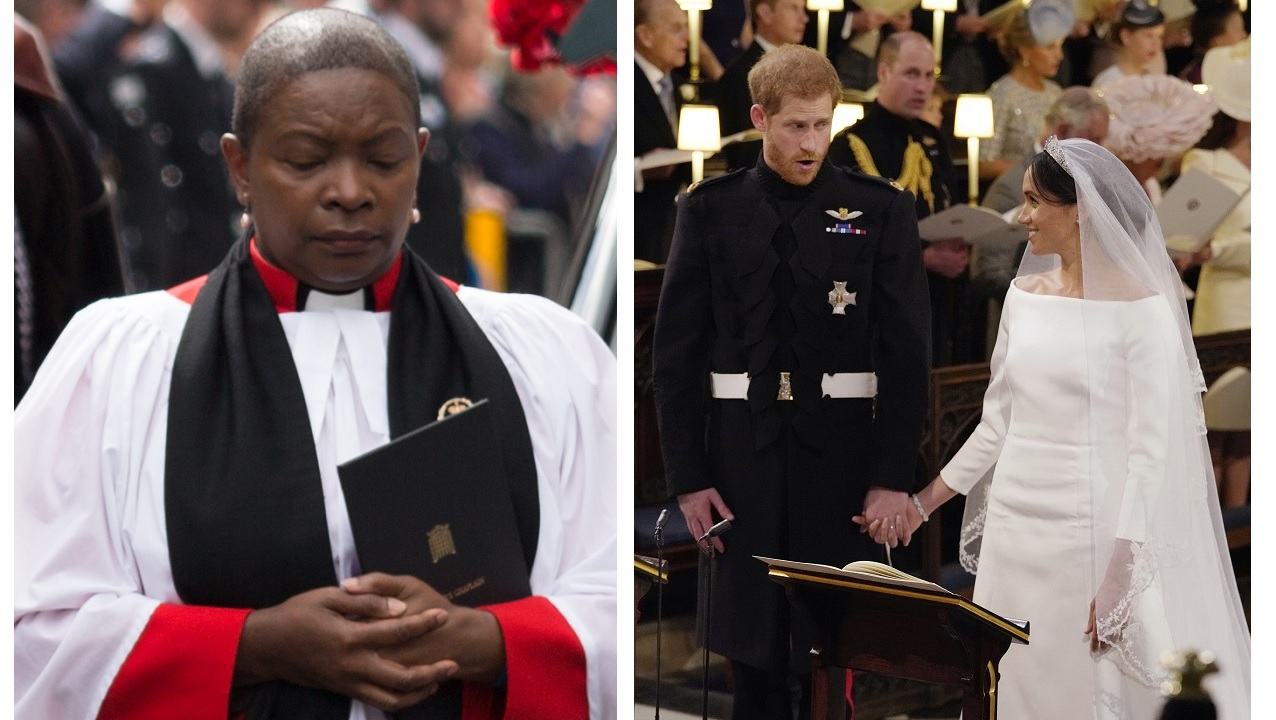 Jamaican-born Rose Hudson-Wilkin (left) participated in the royal wedding in the United Kingdom on Saturday.