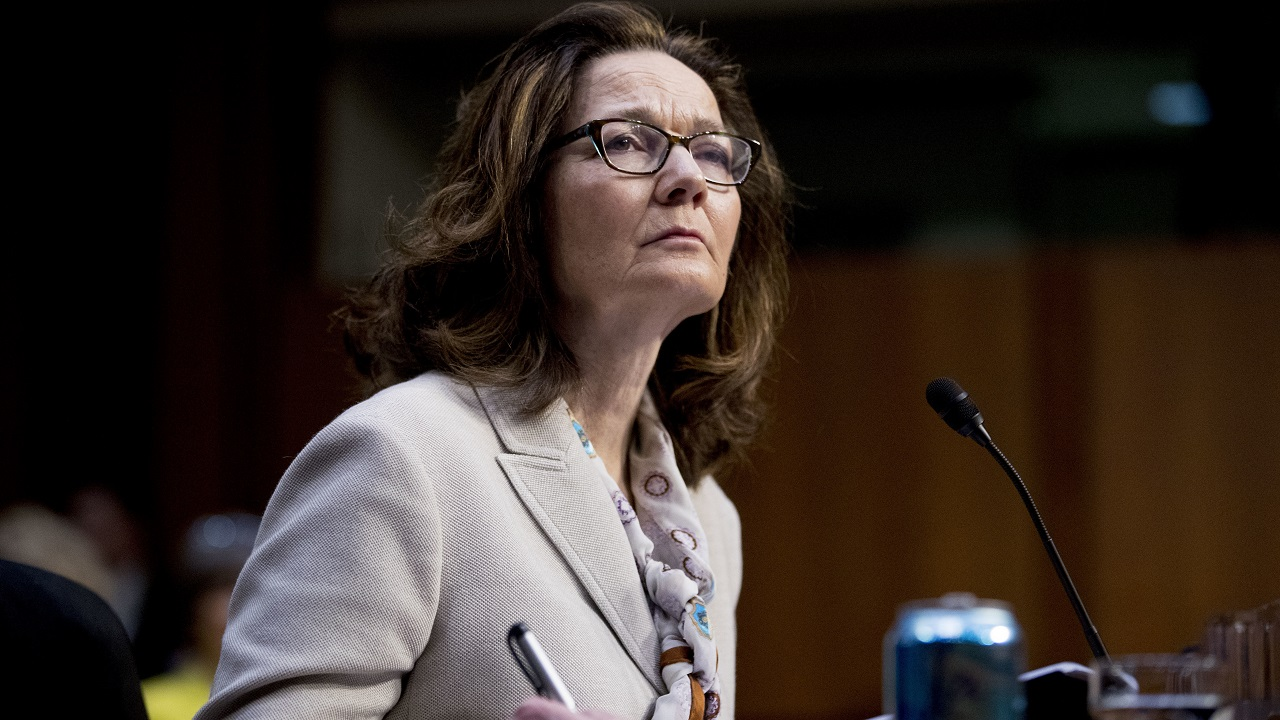 (Image: AP: Gina Haspel testifies during a confirmation hearing on 9 May 2018)