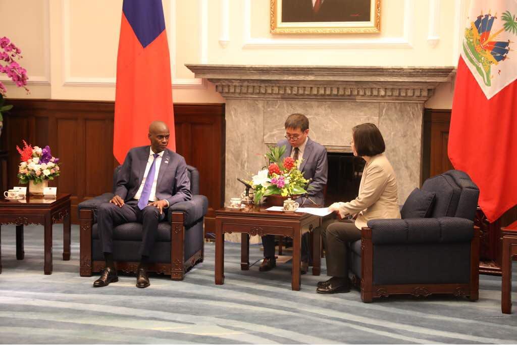 le président haïtien Jovenel Moïse et son hommologue taïwanais TSAI Ing-wen lors d'un entretien hier mardi 29 mai 2018. (crédit photo : @moisejovenel)