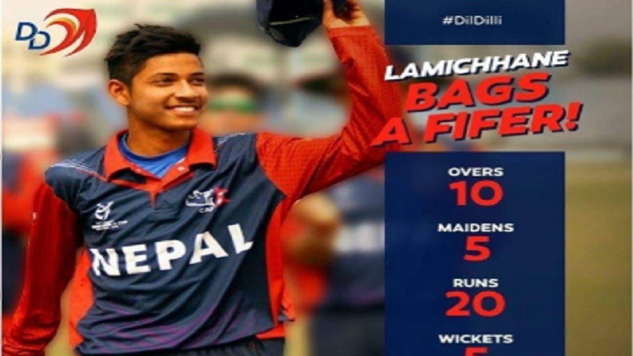 Nepal wrist-spinner, Sandeep Lamichhane.
