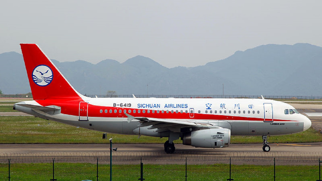 (Image: The incident took place on a Sichuan Airlines Airbus A319 like this)