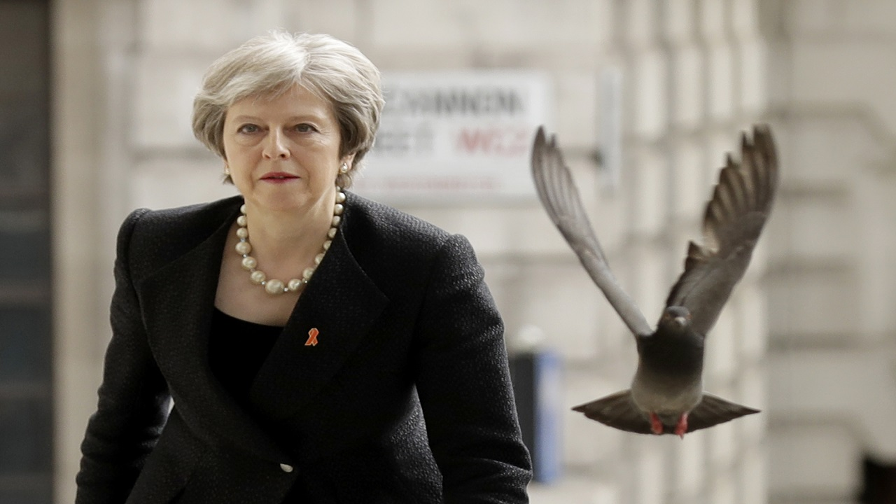British Prime Minister Theresa May. (AP)