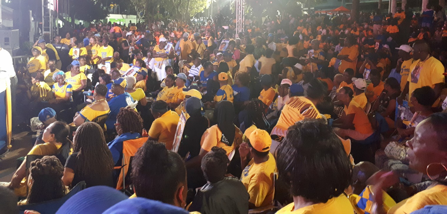 Party supporters at Independence Square.