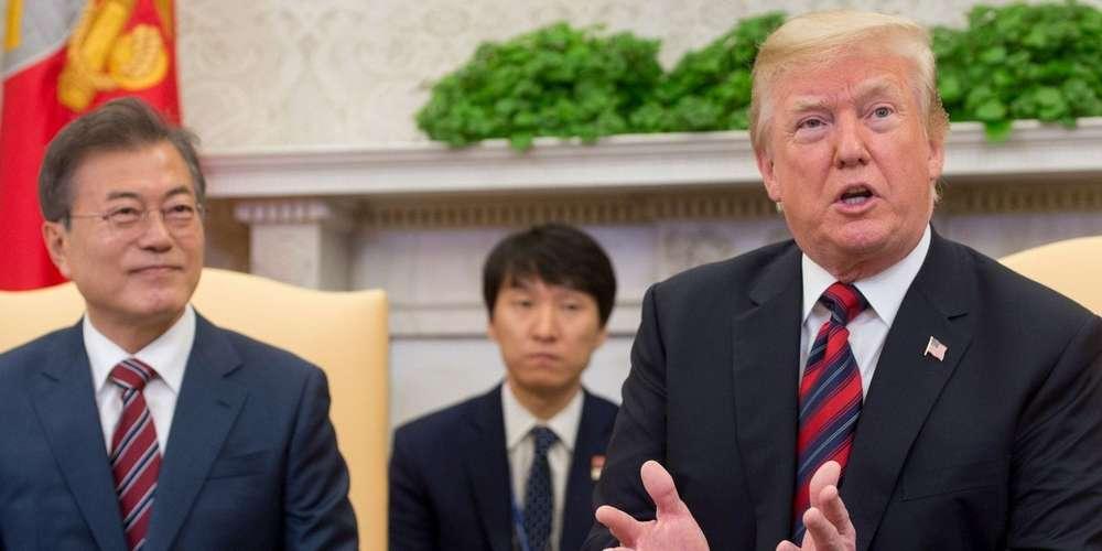 Prévu le 12 juin à Singapour, le président américain Donald Trump a affirmé mardi que son sommet avec le dirigeant nord-coréen Kim Jong Un pourrait être reporté. (crédit photo : AFP)