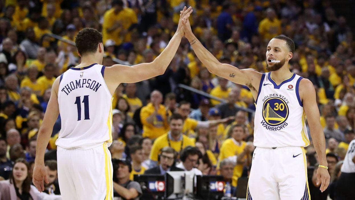 Auteur de prestations en demi-teinte depuis le début de la finale de conférence, Curry a fait taire ses critiques avec ses 35 points, dont 26 inscrits après la pause, et cinq tirs primés. (crédit photo : AFP)