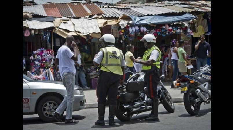 Traffic police clamp down on motorists during a recent operation in Kingston.
