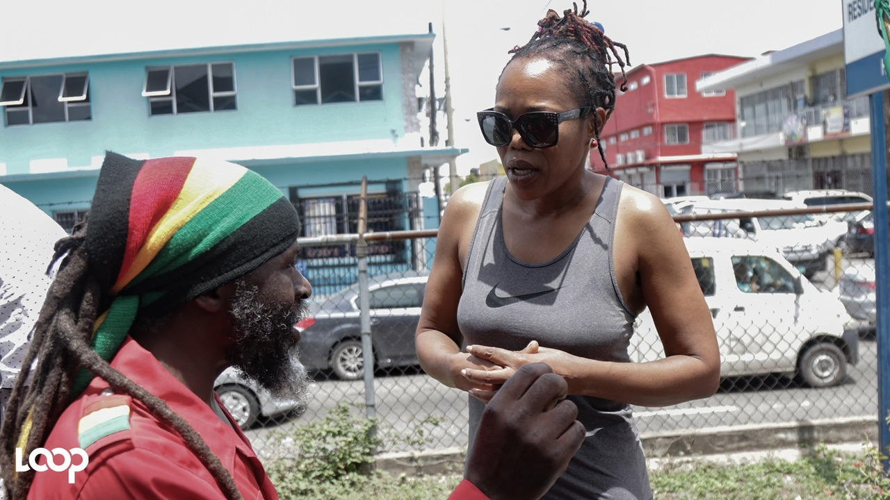 Queen Ifrica was among several entertainers who turned up at court to support Capleton on Monday. (PHOTO: Shawn Barnes)