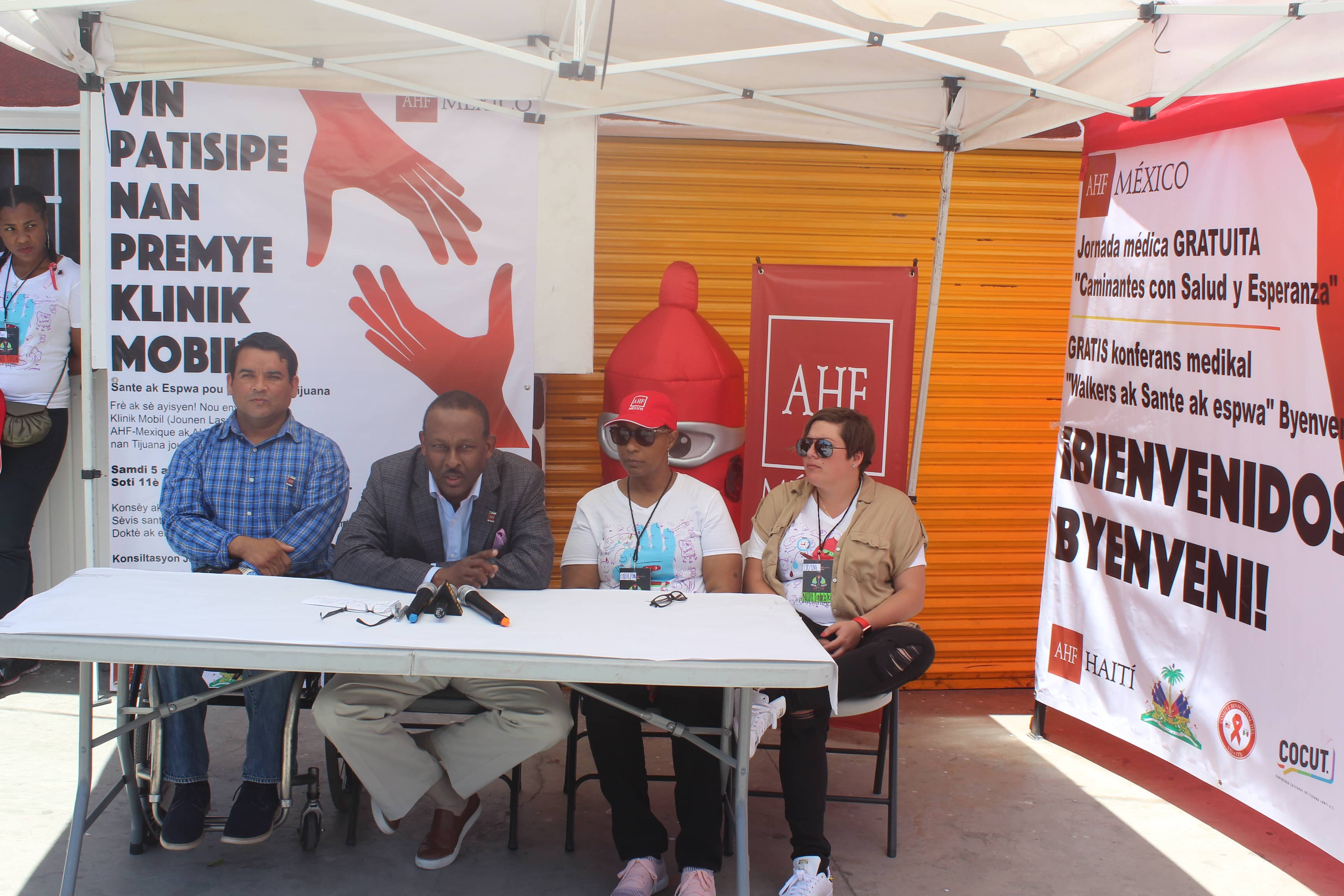 Deux journées de Clinique Mobile ont été organisées à Tijuana (Mexique) au profit des haïtiens de la zone Frontalière par la AIDS Healthcare Foundation (AHF Haïti). (crédit photo : AHF/Digicel)