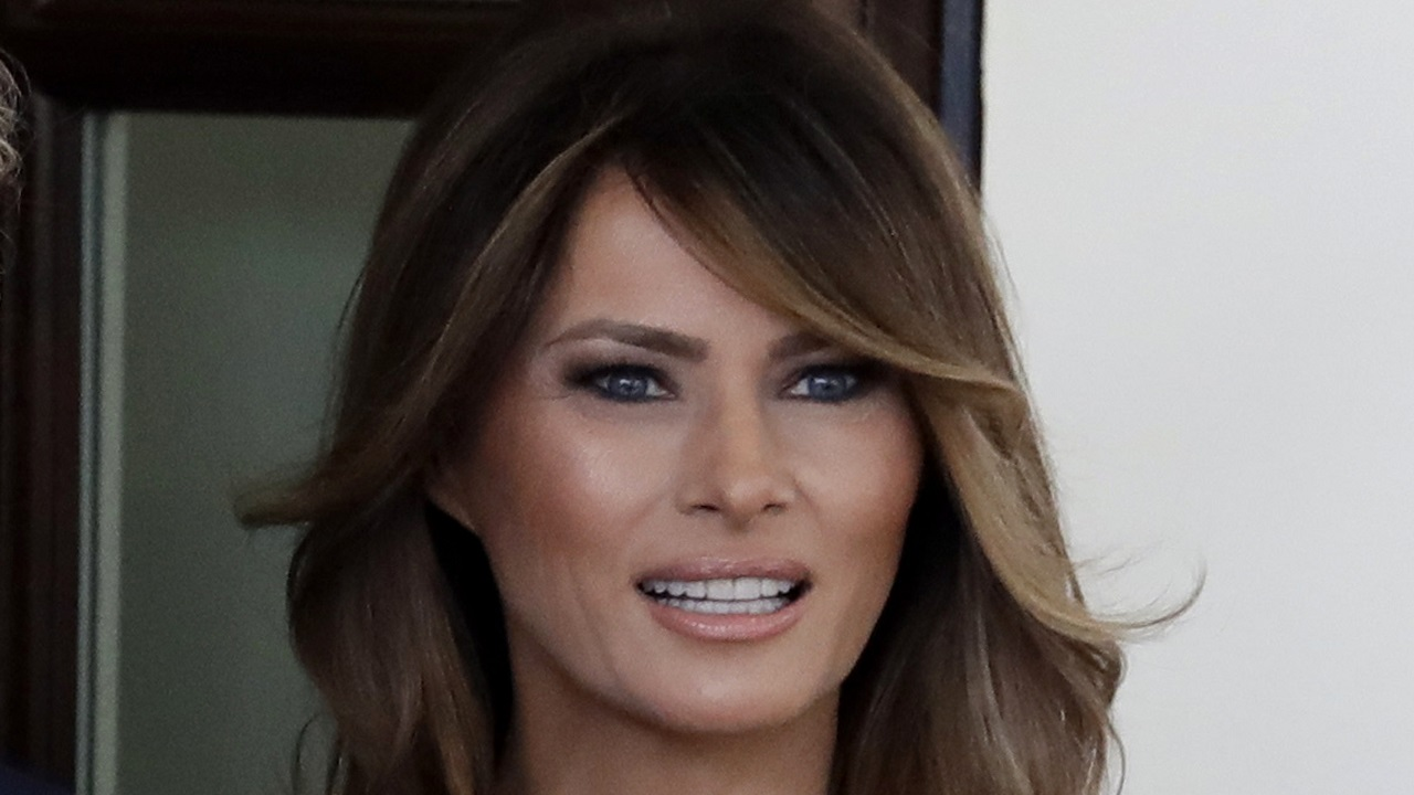 (Image: AP: Melania Trump, pictured on 23 April 2018)