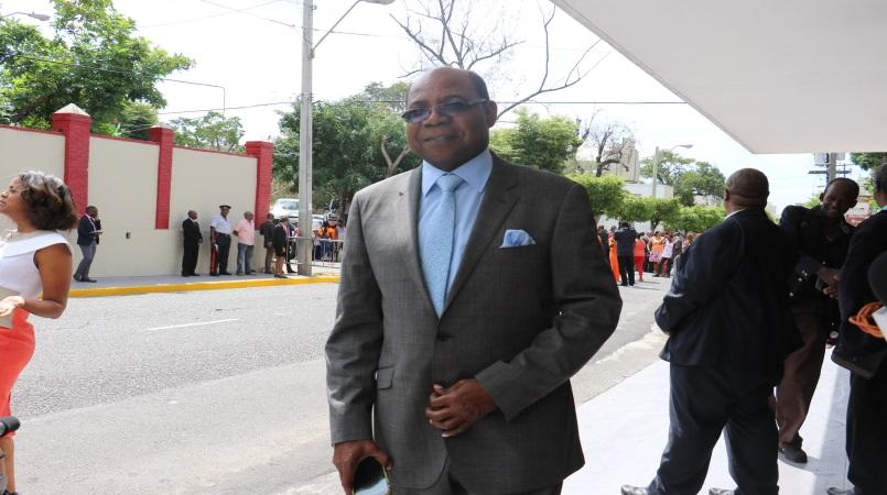 File photo of Tourism Minister Edmund Bartlett entering Gordon House.