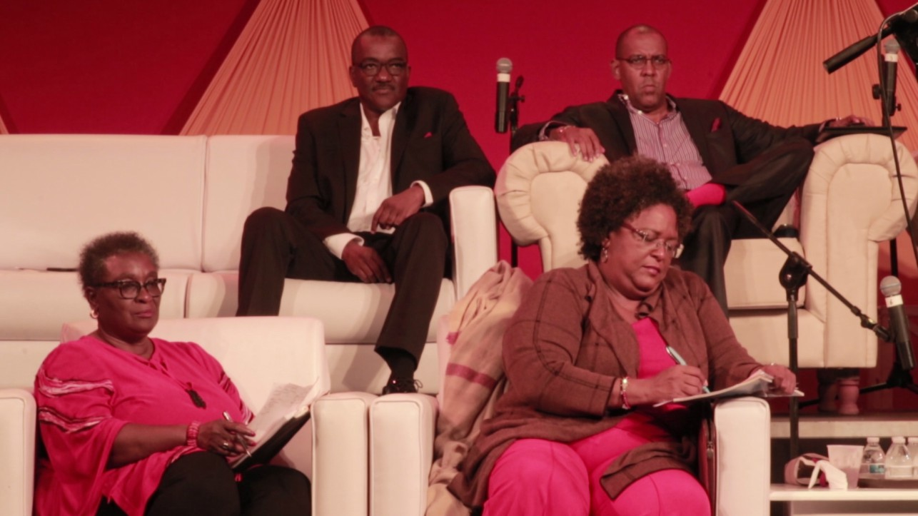 Barbados Labour Party during the launch of the party's manifesto.