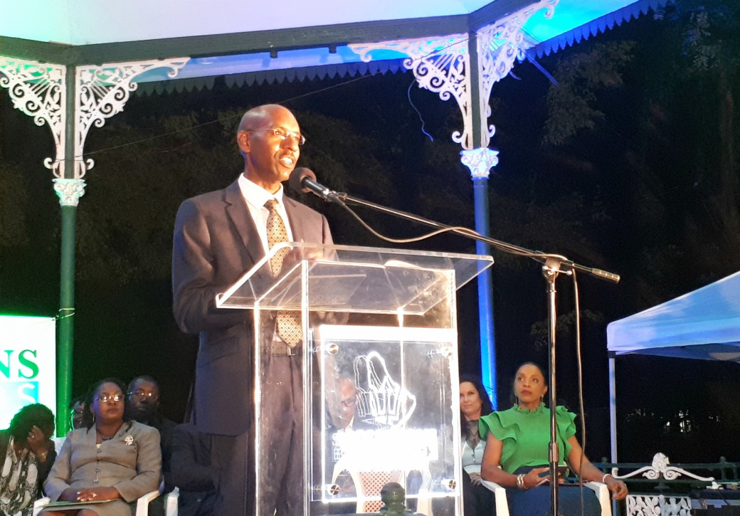 Grenville Phillips II, party leader of Solutions Barbados.