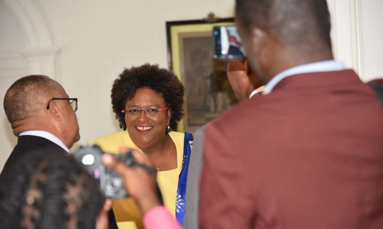 Prime Minister Mia Mottley (Source: BLP Facebook)