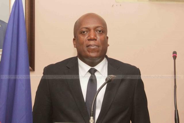 Le ministre de la Justice Jean Roudy Aly