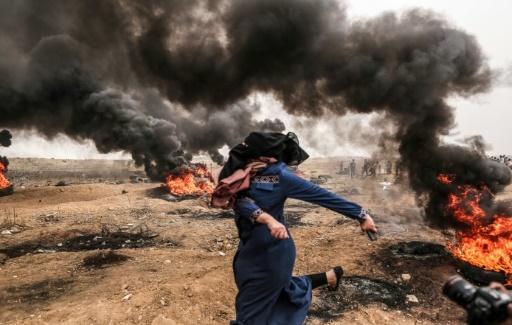Vendredi, 431 Palestiniens ont été soignés pour diverses blessures, dont 98 après avoir été atteints par balles, selon le ministère gazaoui de la Santé. (crédit photo : AFP)