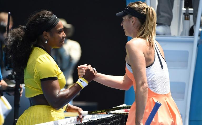 La championne américaine aux 23 couronnes en Grand Chelem tente un come-back après avoir donné naissance en septembre à son premier enfant. Sharapova a elle raté les deux derniers rendez-vous. Il y a deux ans, elle purgeait une suspension de quinze mois pour dopage au meldonium. (crédit photo : AFP)