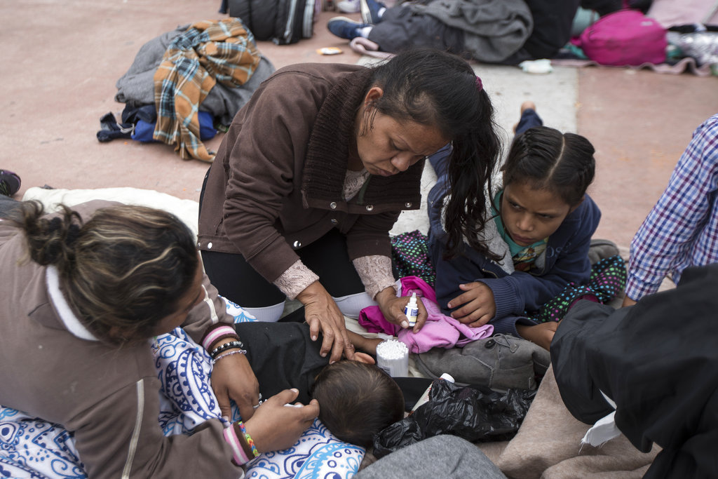 Migrants from Central American caravan scared and hopeful for as