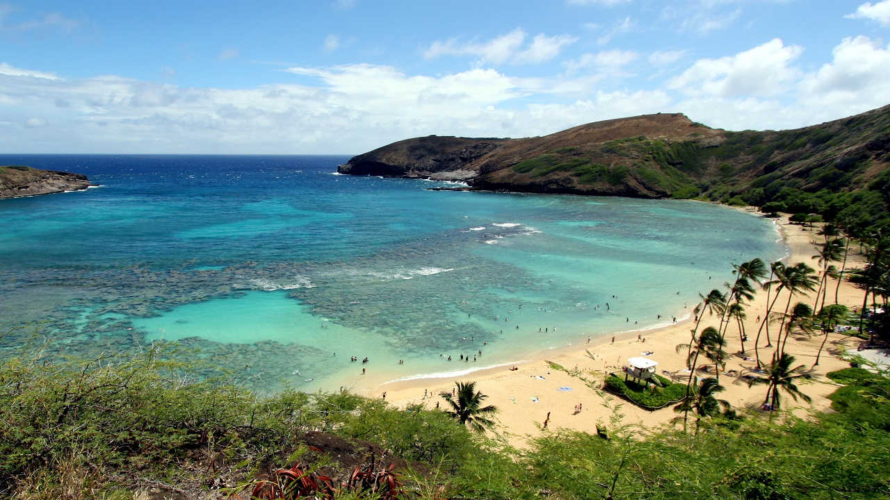 (Image: Hanauma Bay in Hawaii, famous for its wildlife-rich coral reef, in image courtesy of Prayitno via Flickr)