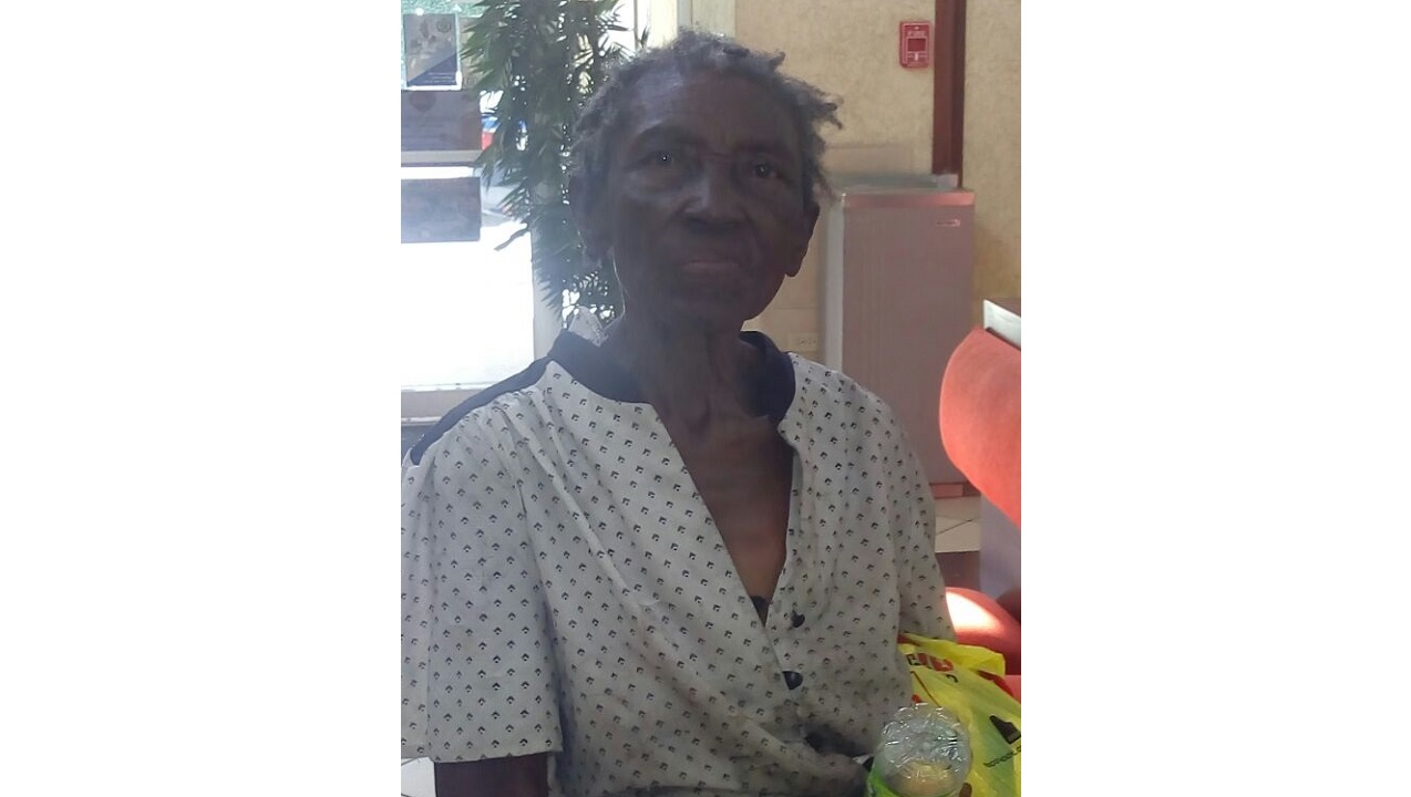 The elderly woman who was found wandering in Grants Pen on Tuesday.