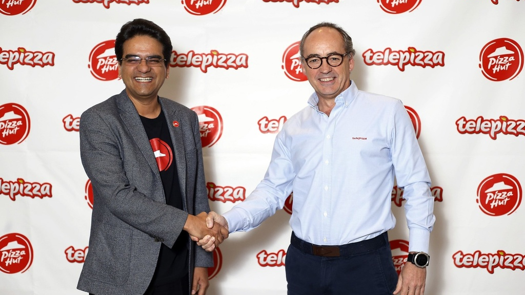 Milind Pant, President, Pizza Hut International and Pablo Juantegui Executive Chairman and Chief Executive Officer, Telepizza Group