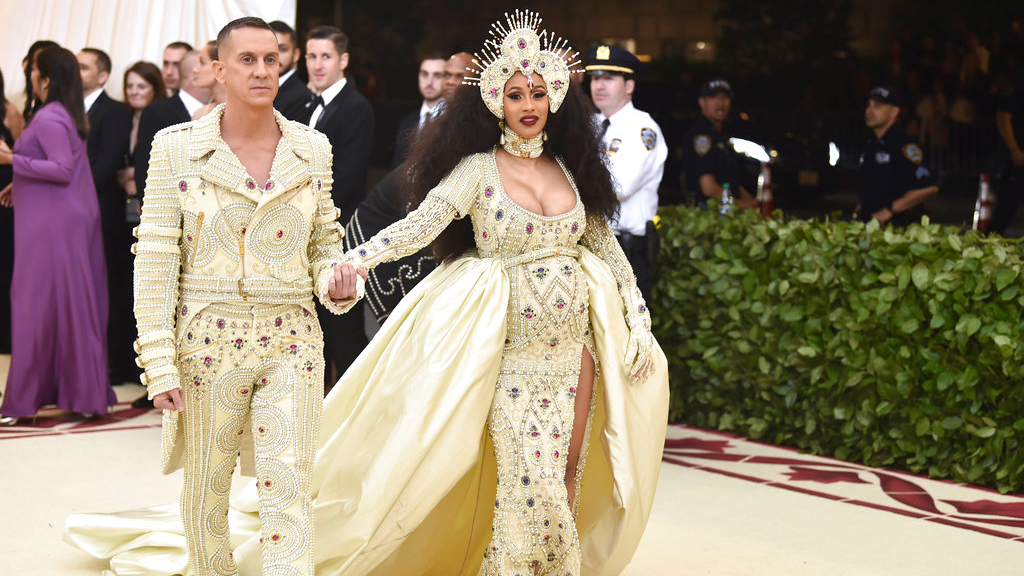Jeremy Scott, left, and Cardi B attend The Metropolitan Museum of Art's Costume Institute benefit gala celebrating the opening of the Heavenly Bodies: Fashion and the Catholic Imagination exhibition on Monday, May 7, 2018, in New York. (Photo by Evan Agostini/Invision/AP)