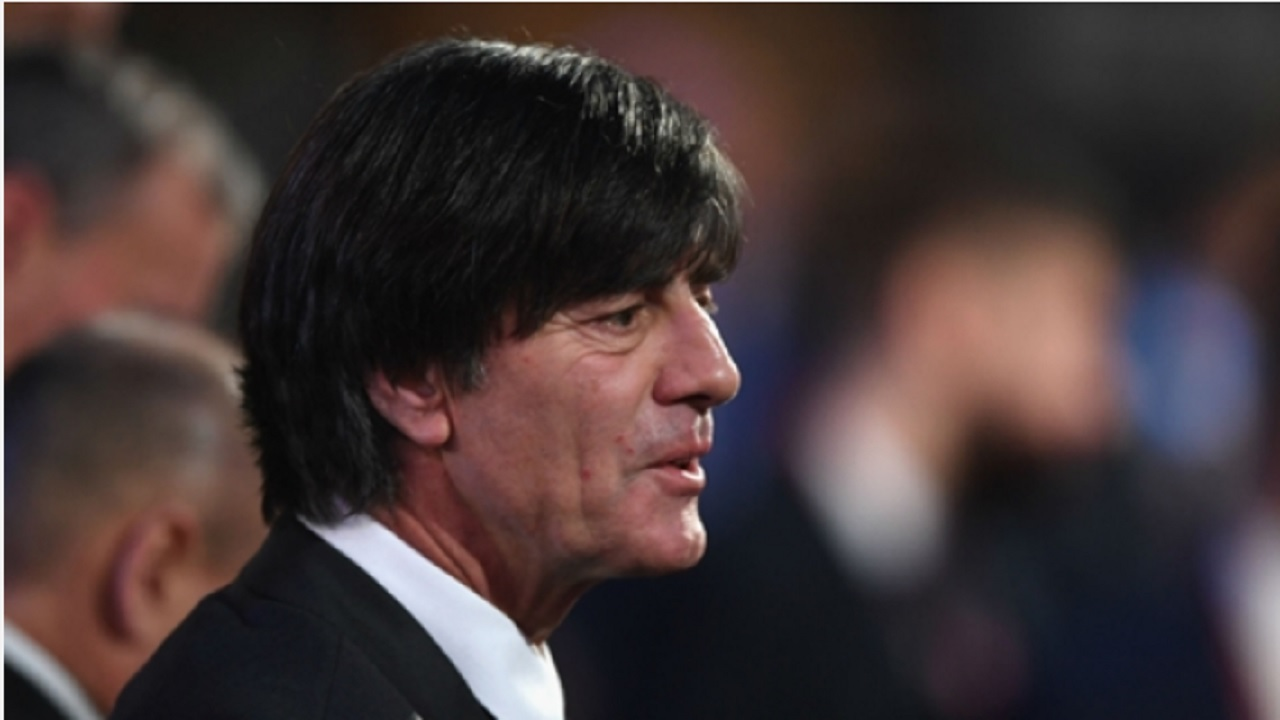 Germany coach Joachim Low at the World Cup draw.