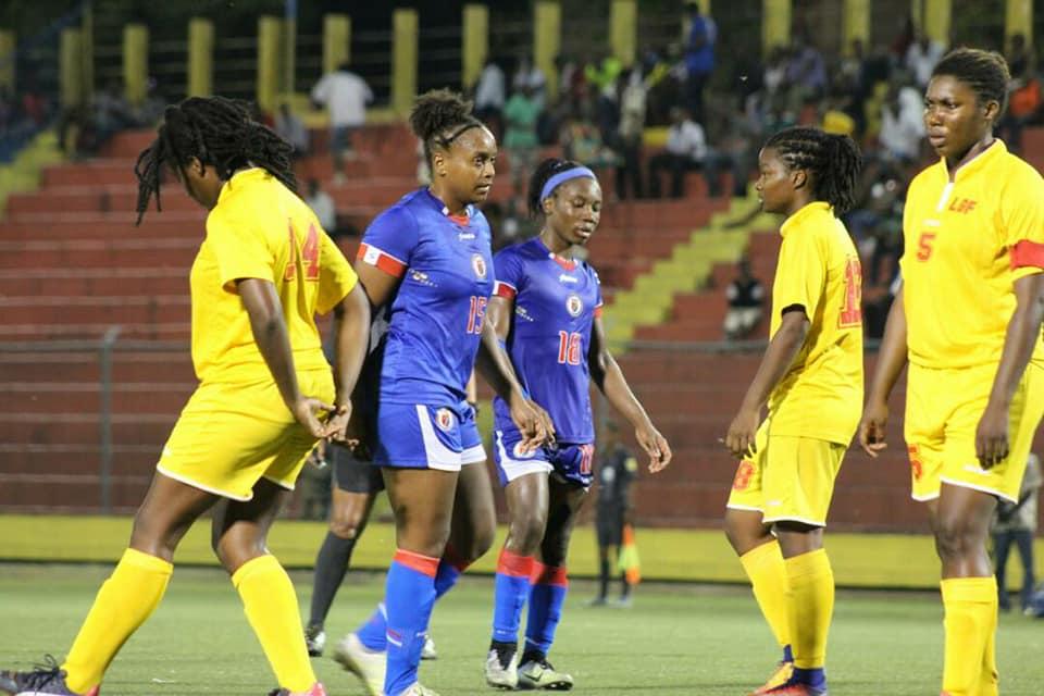 Le match de qualification opposant la sélection haïtienne féminine et la Jamaïque. Photo: FHF (Facebook)