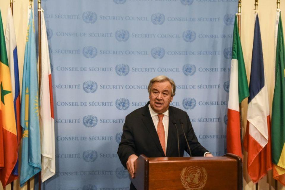 """""""La hausse des inégalités est devenue le visage de la mondialisation et a entraîné mécontentement, intolérance et instabilité sociale surtout parmi nos jeunes"""", a déclaré M. Guterres. (crédit photo : AFP)"""