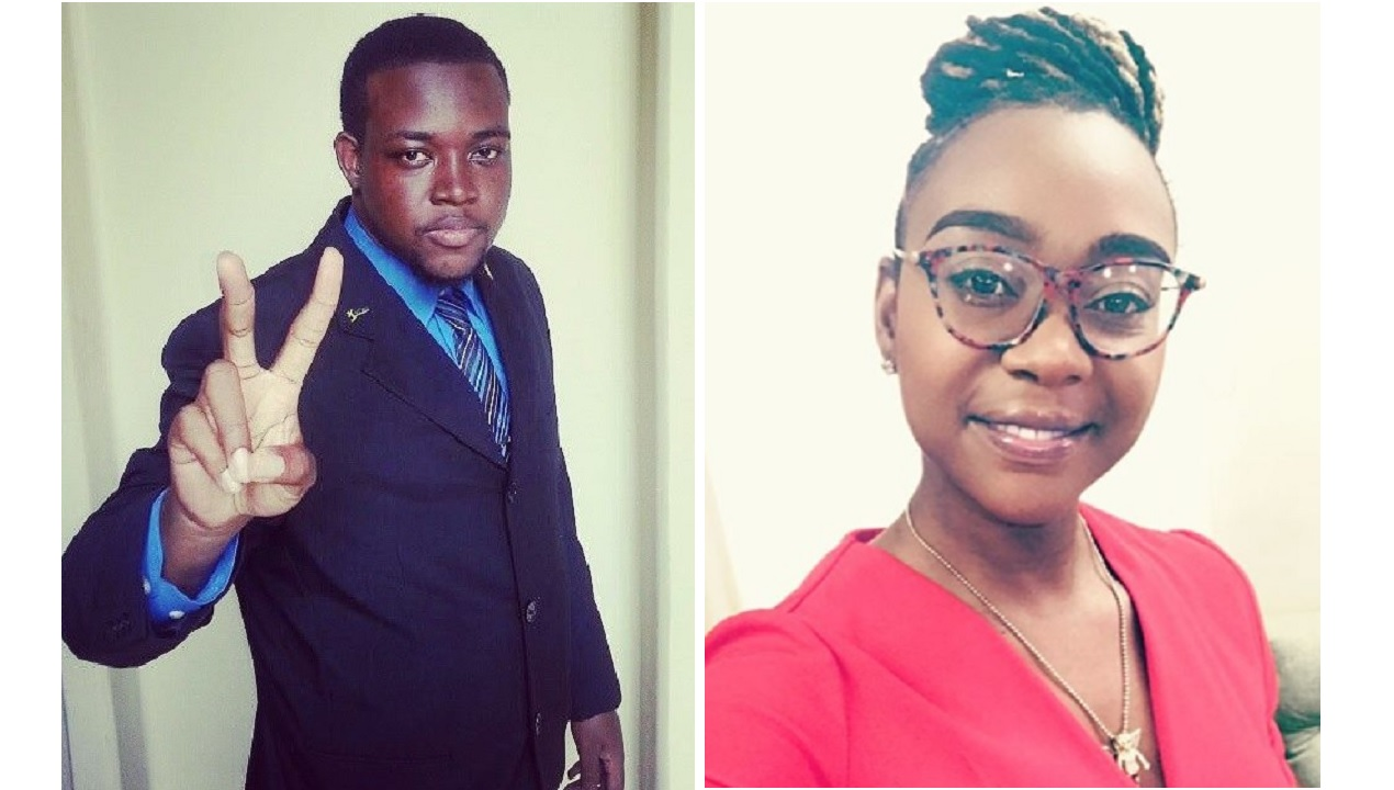 Young Jamaica's Howard Chamberlain and Krystal Tomlinson of the PNPYO.