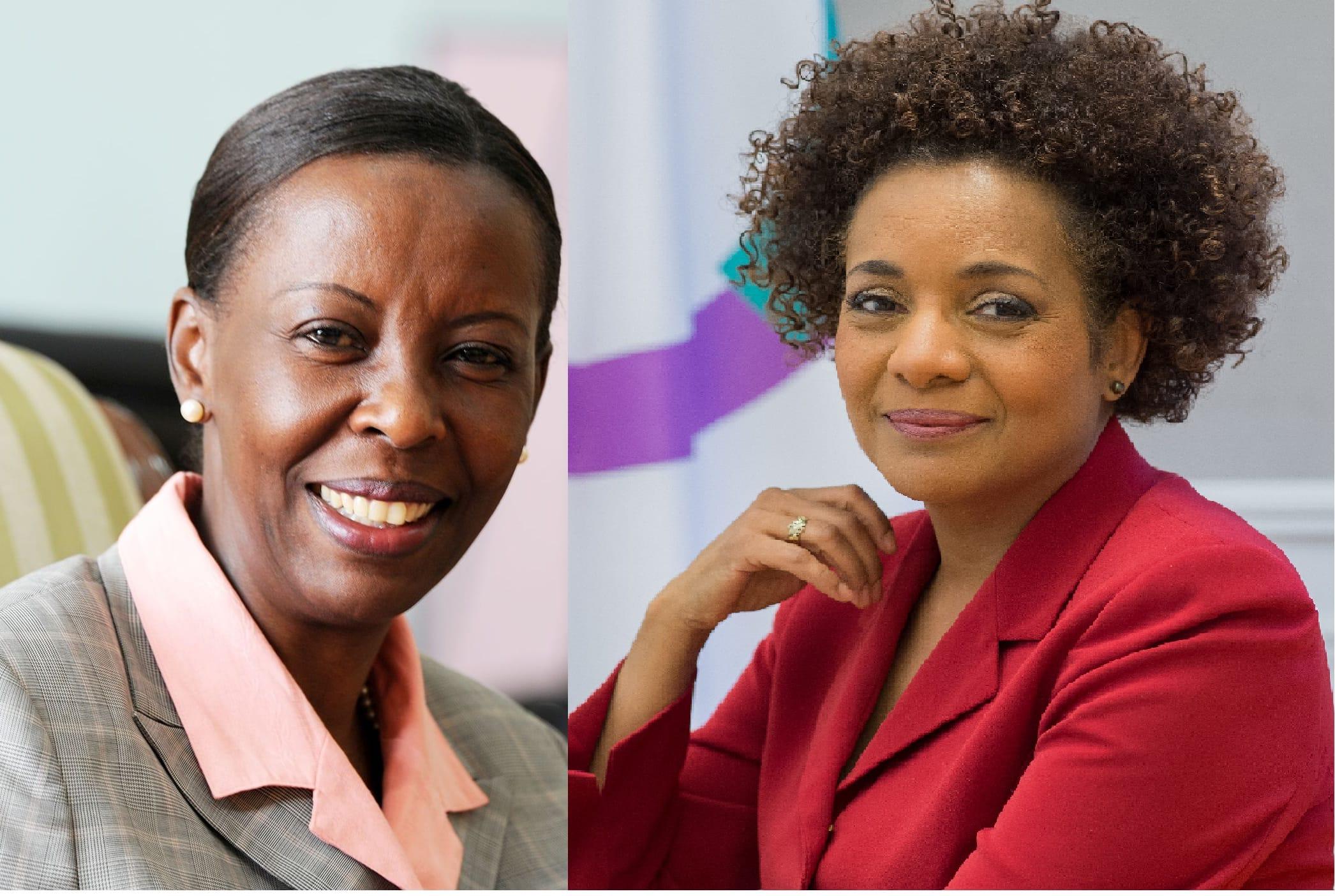 Louise Mushikiwabo, candidate au poste de Secrétaire générale de l'OIF et Michaelle Jean, actuelle SG de l'OIF