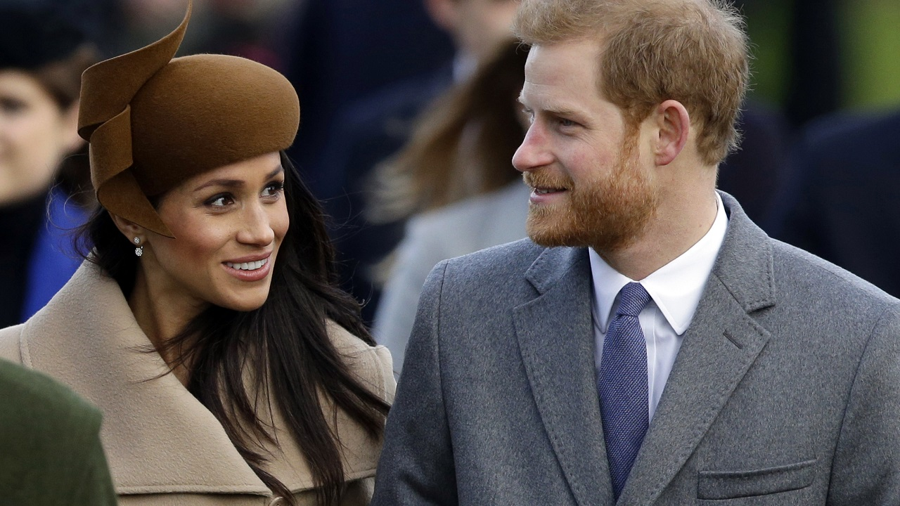 (Image: AP: Prince Harry and Meghan Markle, pictured at Sandringham on 25 December 2017)