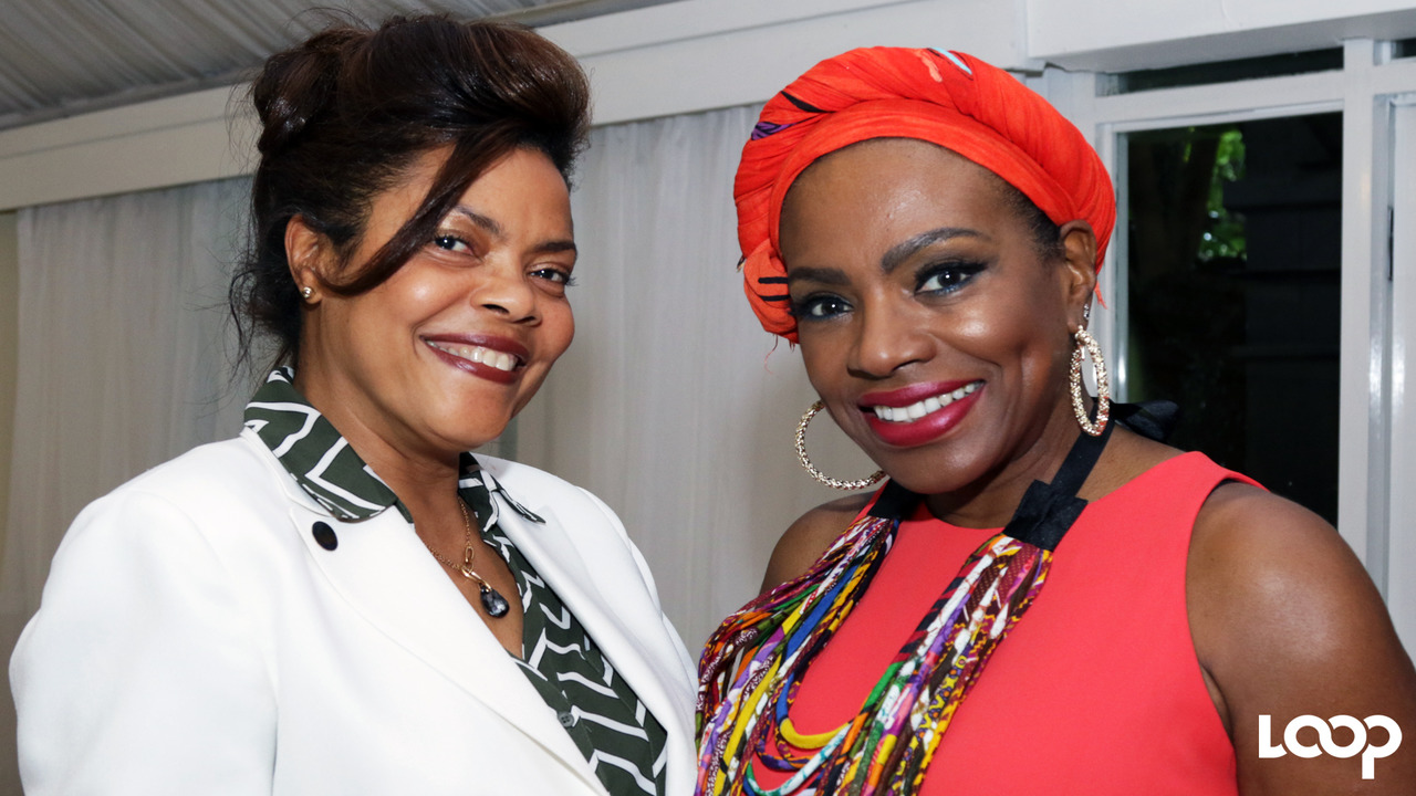 Executive director of the Jamaica Cancer Society, Yulit Gordon (left), with actress and activist, Sheryl Lee Ralph at the launch of Relay For Life last Wednesday. (PHOTOS: Ramon Lindsay)