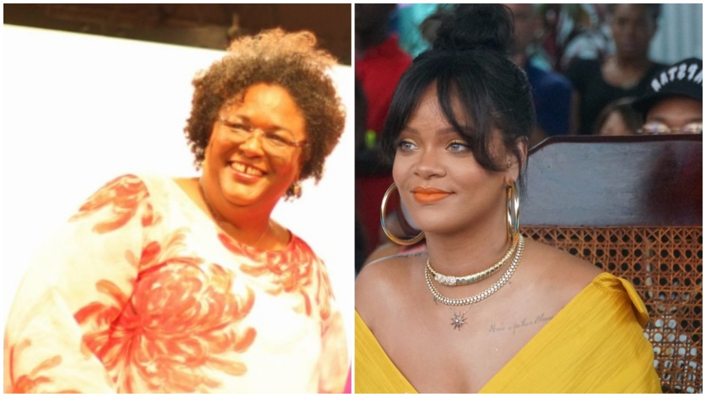 Prime Minister Mia Mottley and Rihanna