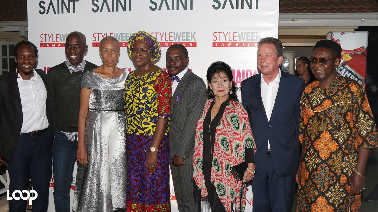 Saint International CEO Deiwght Peters (second left), pictured at the launch of Style Week 2018 with dignitaries and fashion industry insiders, has promised an exciting week of activities that will thrill the island's 'fashionistas'. (PHOTOS: Shawn Barnes)
